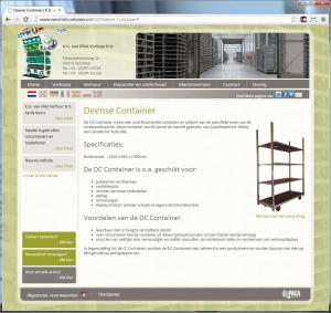 de website van K.G. van Vliet Verhuur B.V.