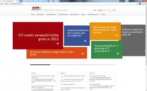 de website van Nederland ICT
