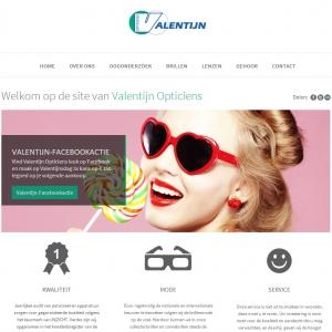 de nieuwe website van Valentijn Opticiens