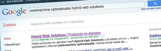 Verbeterde SEO (search engine optimisation) in module Hybrid CMS